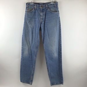Levi's 550 Vintage Orange Tab Tapered Jeans 33x32